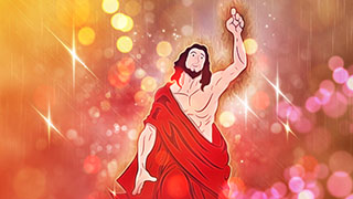 Jesus Illustrated Background 06