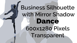 Dancing Business Woman Silhouette Mirror Transparent