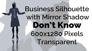 Business Woman Don't Know Expression Silhouette Mirror Transparent