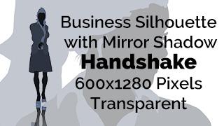 Handshake Business Woman Silhouette Mirror Transparent