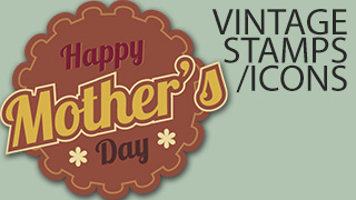 Happy Mother's Day Vintage Stamps/Icons