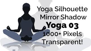 Yoga Exercise Mirror Transparent Silhouette 03