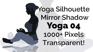 Yoga Exercise Mirror Transparent Silhouette 04