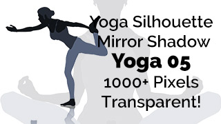 Yoga Exercise Mirror Transparent Silhouette 05