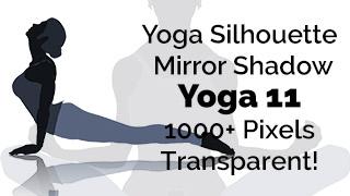 Yoga Exercise Mirror Transparent Silhouette 11
