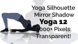 Yoga Exercise Mirror Transparent Silhouette 12
