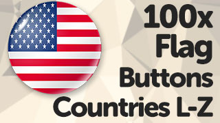 Flag Button Icons/Stamps L to Z