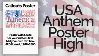 USA Anthem Poster Graphic High