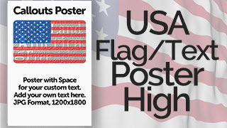 USA Flag with Text Poster Graphic High