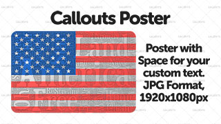 USA Flag with Text Poster Graphic Wide