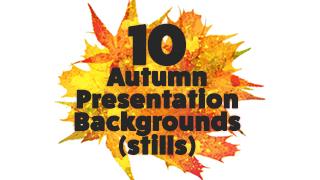 Autumn Presentation Background Graphics