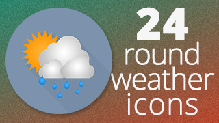 Weather Icons Round