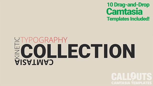 Kinetic Typography Camtasia Template Collection