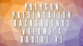 Low-Poly Radial XL Background 04