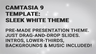 Camtasia 9 Templates: White Presentation Theme