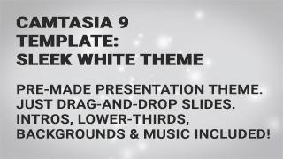 Camtasia 9 Templates: White Presentation Theme