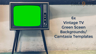 Camtasia 9 Vintage TV Green Screen Templates