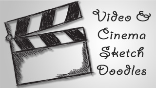Video and Cinema Sketch Doodles Collection