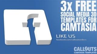 3 Free Camtasia Social Media 3D Templates