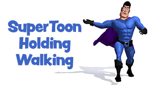 SuperToon 3D Holding and Walking