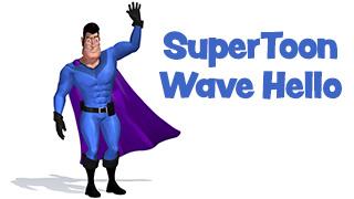 SuperToon 3D Waving Hello