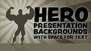 Hero Presentation Backgrounds with Text Space