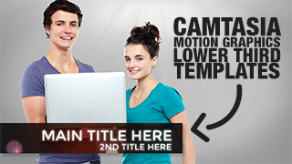 Camtasia Motion Graphic Lower Third Templates