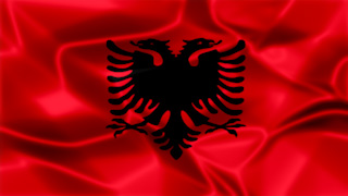 Albania Silky Flag Graphic Background