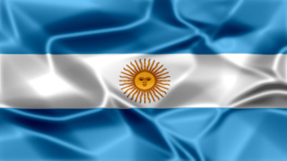 Argentina Silky Flag Graphic Background