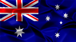 Australia Silky Flag Graphic Background