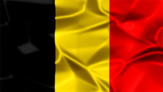Belgium Silky Flag Graphic Background