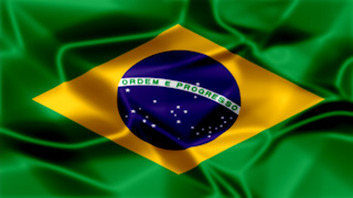 Brazil Silky Flag Graphic Background