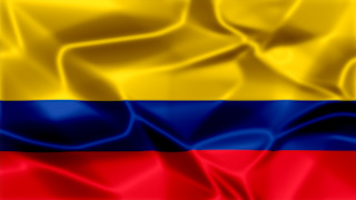 Colombia Silky Flag Graphic Background