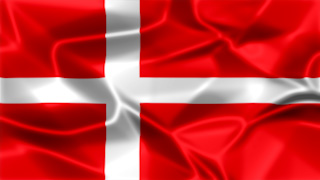 Denmark Silky Flag Graphic Background