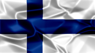 Finland Silky Flag Graphic Background