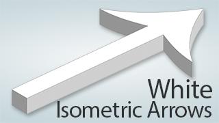 Isometric Arrows White