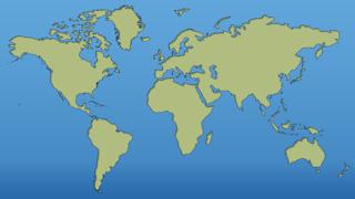 Stylized Green World Map Graphic Background