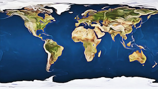 Oil Paint World Map Graphic Background