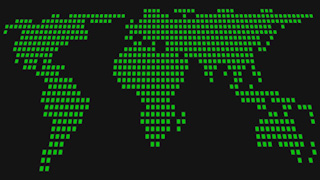 Green Dots World Map Graphic Background