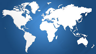 White Long Shadows World Map Graphic Background
