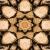 Wood Star Kaleidoscope Loopable Video Background