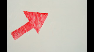 Red Arrow Drawn on Whiteboard Space for Text
