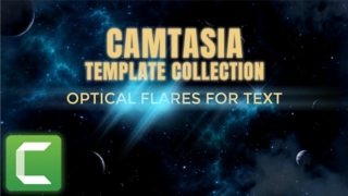 Camtasia Template Collection: Text Lens Flares