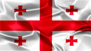 Georgia Silky Flag Graphic Background