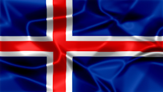 Iceland Silky Flag Graphic Background