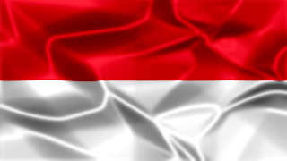 Indonesia Silky Flag Graphic Background