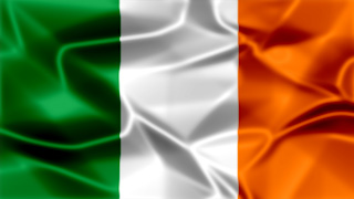 Ireland Silky Flag Graphic Background