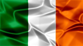 Ireland Silky Flag Graphic Background