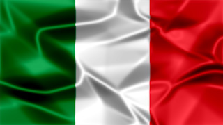 Italy Silky Flag Graphic Background