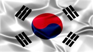 Korea Silky Flag Graphic Background